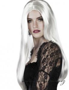 Bílá dlouhá paruka