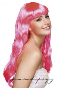 Paruka Chique růžová