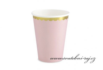 Papírové kelímky růžové